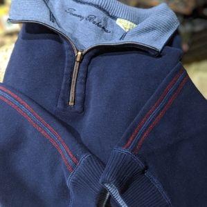 Tommy Bahama Zip V-Neck Cuffed Sweatshirt